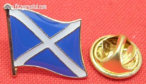 Scotland Country Flag Lapel Hat Cap Tie Pin Badge / Brooch Saint Andrew's Cross